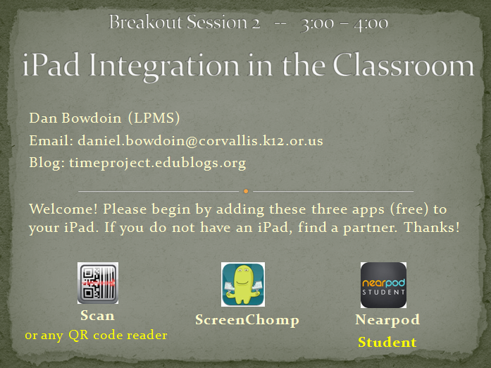 iPad Integration in the Classroom – Training Session   Technology Integration for Math Engagement